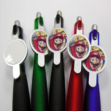 עט פלסטיק צבעוני